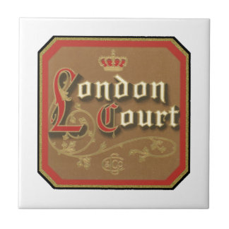 London Court Vintage Label Ceramic Tile