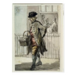 London Cries: A Muffin Man, c.1759 (w/c on paper) Post Cards