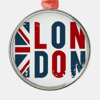 London Silver-Colored Round Decoration