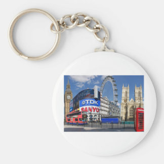london design products basic round button key ring