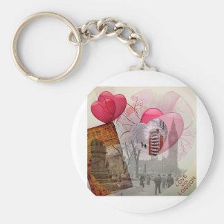 London designs basic round button key ring