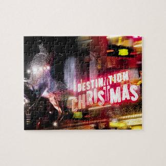 London Destinations Christmas Jigsaw Puzzle