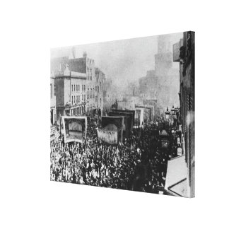 London Dock Strike, 1889 Canvas Print