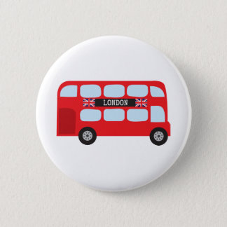 London double-decker bus 6 cm round badge