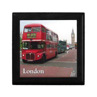 London Double-decker Bus Bespoke Small Square Gift Box