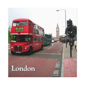 London Double-decker Bus Canvas Print