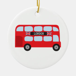 London double-decker bus christmas ornament