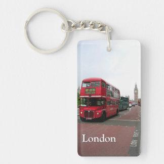 London Double-decker Bus Personalized Key Ring