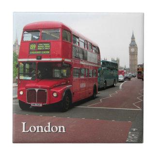 London Double-decker Bus Personalized Tile