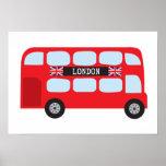 London double-decker bus print