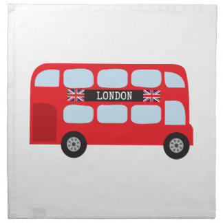 London double-decker bus printed napkins