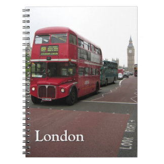 London Double-decker Bus Spiral Notebook