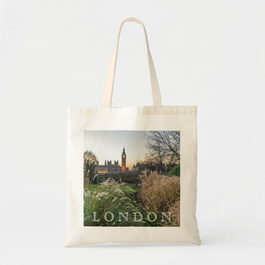 London Elizabeth Tower view tote bag