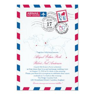 London England Airmail   Wedding Card