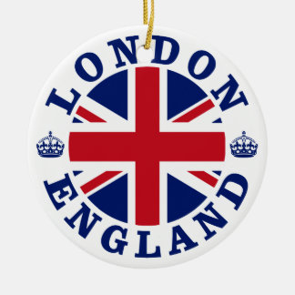 London England British Flag Roundel Christmas Ornament