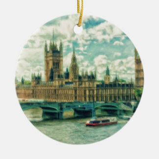 London England by Shawna Mac Christmas Ornament