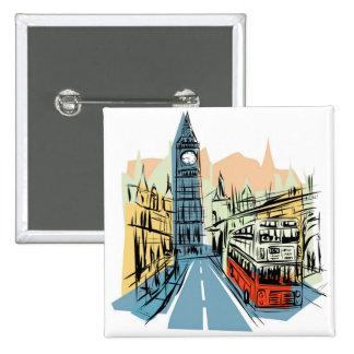 London England city scape button