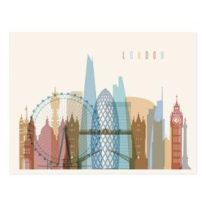 London, England | City Skyline Postcard