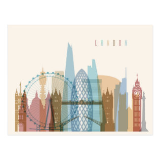 London, England | City Skyline Postcard