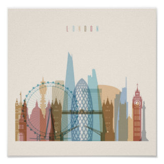 London, England | City Skyline Poster