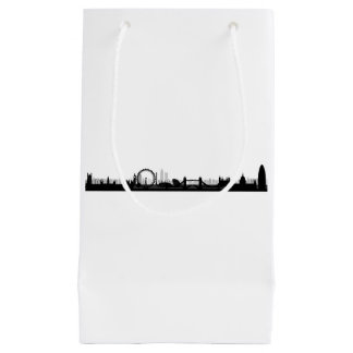 London England City Skyline Theme Small Gift Bag