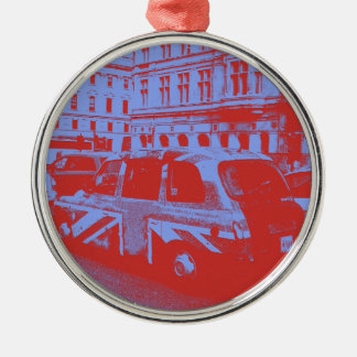London England Round Metal Christmas Ornament