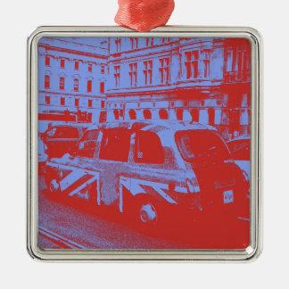 London England Silver-Colored Square Decoration