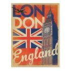 London, England - Flag Postcard