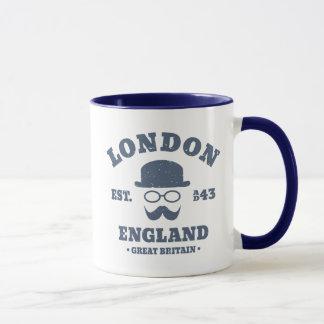 London England GB Hipster Bowler Hat Mug