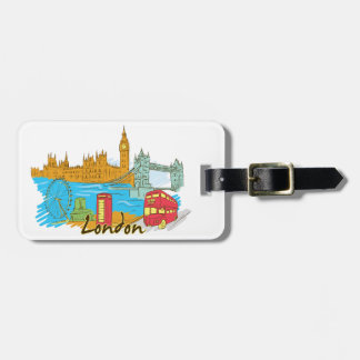 London England Luggage Tag