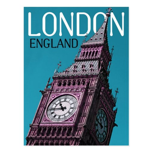 london england post card