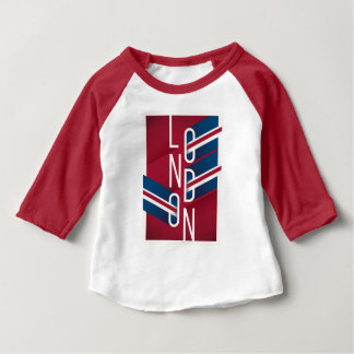 London, England | Retro Illustrated Typography Baby T-Shirt