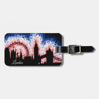 London England Silhouette Luggage Tag