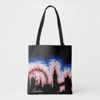 London England Silhouette Tote Bag
