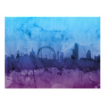 London England Skyline Art Photo