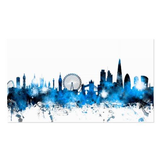 London England Skyline Business Card Template