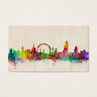London England Skyline Business Card