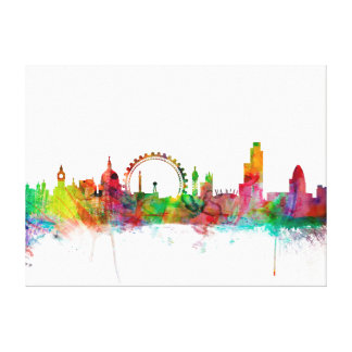 London England Skyline Gallery Wrapped Canvas