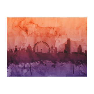 London England Skyline Stretched Canvas Prints