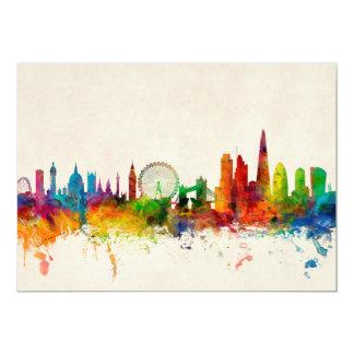 London England Skyline 13 Cm X 18 Cm Invitation Card