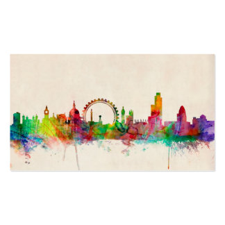 London England Skyline Pack Of Standard Business Cards