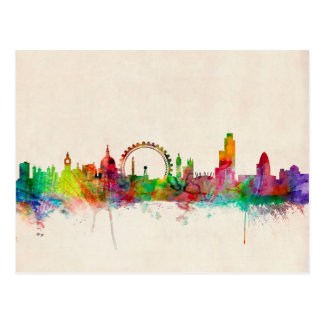 London England Skyline Postcard