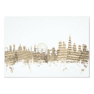 London England Skyline Sheet Music Cityscape Card