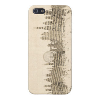 London England Skyline Sheet Music Cityscape Case For The iPhone 5