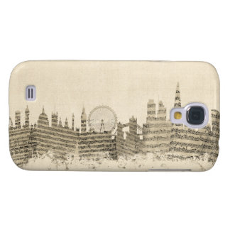 London England Skyline Sheet Music Cityscape Galaxy S4 Case