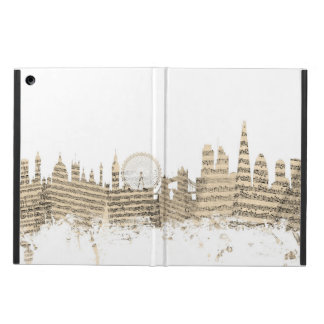London England Skyline Sheet Music Cityscape iPad Air Cover