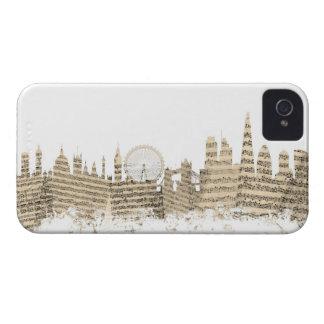 London England Skyline Sheet Music Cityscape iPhone 4 Case