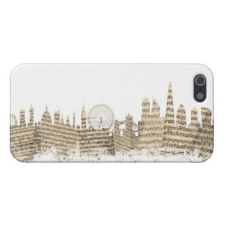 London England Skyline Sheet Music Cityscape iPhone 5/5S Cover