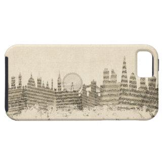 London England Skyline Sheet Music Cityscape iPhone 5 Case