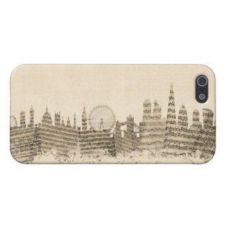 London England Skyline Sheet Music Cityscape iPhone 5 Cases